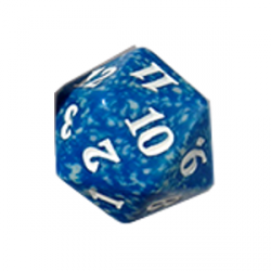 D20 Spindown Die - Magic Origins - Blue