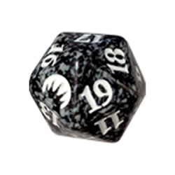 D20 Spindown Die - Magic Origins - Black
