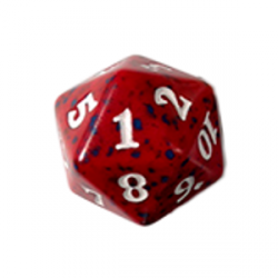 D20 Spindown Die - Magic Origins - Red