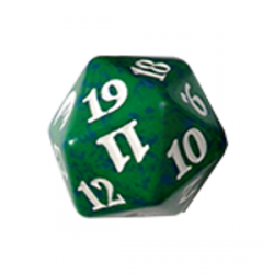 D20 Spindown Die - Magic Origins - Green