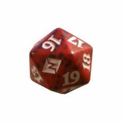 D20 Spindown Die - Battle for Zendikar - Red