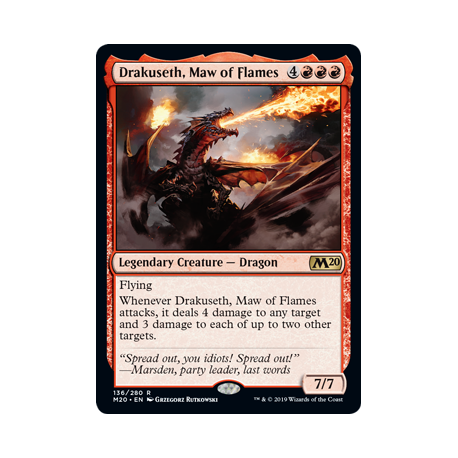 Drakuseth, Maw of Flames - Foil
