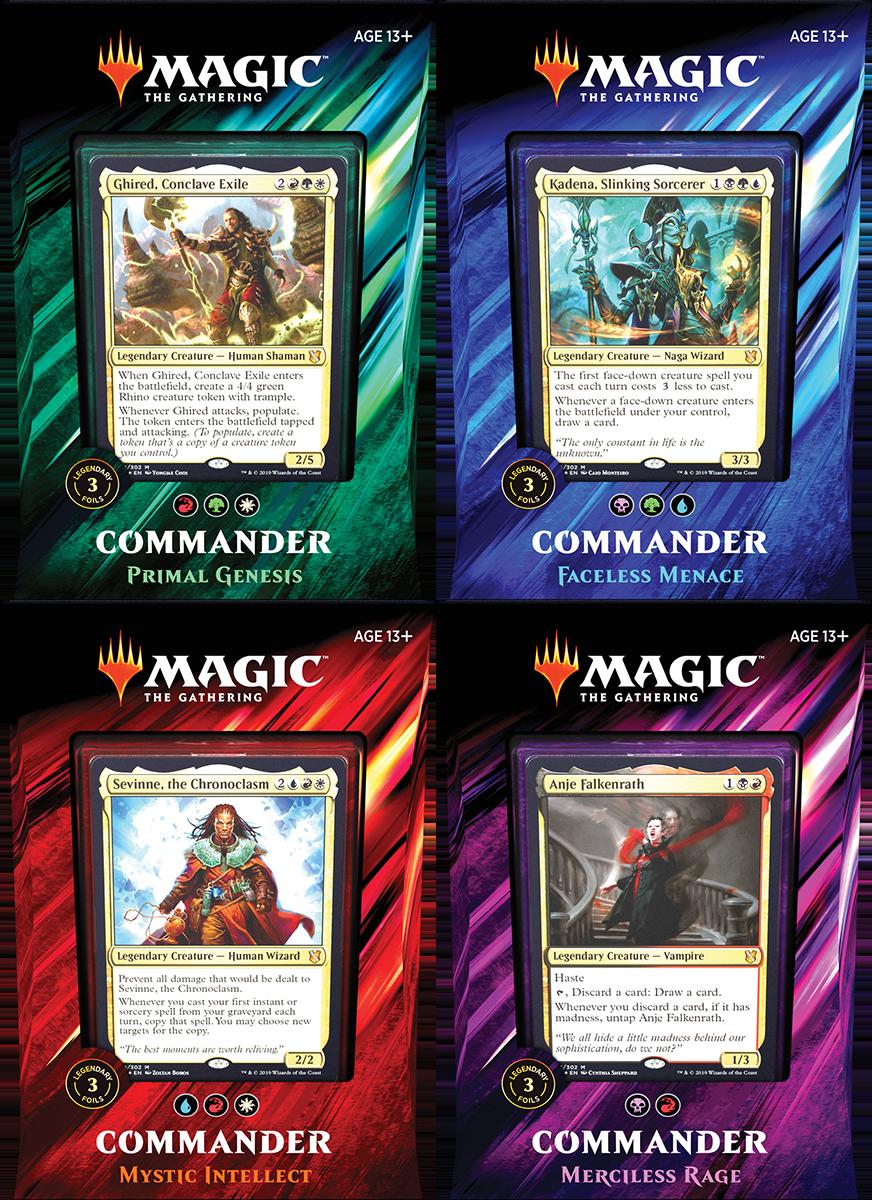 Commander 2019 - Set (4 Decks) - The Mana Shop