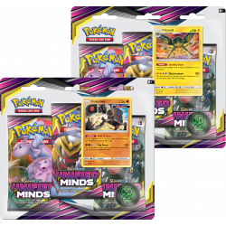 Pokemon - SM11 Unified Minds - 3-Pack Blister Bundle (Sceptile + Typhlosion)