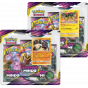 Pokemon - SM11 Unified Minds - 3-Pack Blister Bundle (Stakataka + Vikavolt)