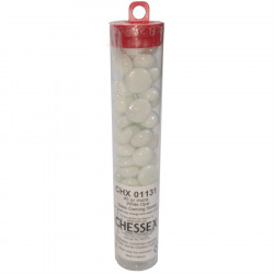 Chessex - Glass Gaming Stones Tube (40+) - White Opal