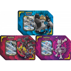 Pokemon - Boîte Alliance Puissante - Set (Mewtwo et Mew-GX + Lucario et Melmetal-GX + Carchacrok et Giratina-GX)