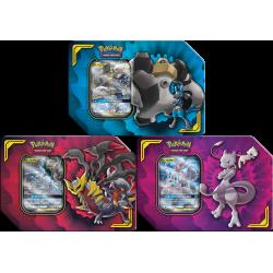 Pokemon - Scatole da collezione Alleanza Micidiale - Set (Mewtwo e Mew-GX + Lucario e Melmetal-GX + Garchomp e Giratina-GX)