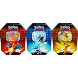 Pokemon - Hidden Fates Tin - Set Charizard-GX + Gyarados-GX + Raichu-GX)