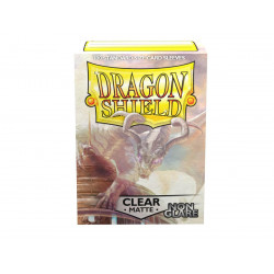 Dragon Shield - Matte Non-Glare 100 Sleeves - Clear 'Mantem'
