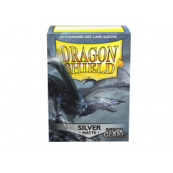 Dragon Shield - Matte Non-Glare 100 Sleeves - Silver 'Argentia'