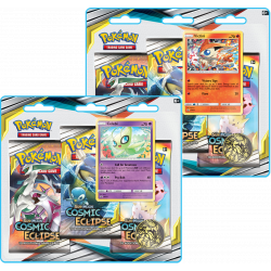 Pokemon - SM12 Cosmic Eclipse - 3-Pack Blister Bundle (Celebi + Victini)