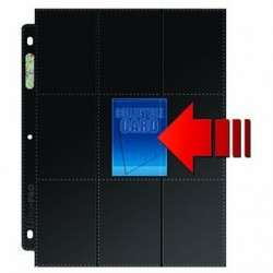 Ultra Pro - Platinum Side Load 18-Pocket Pages with Black Background Display, 50ct