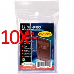 10x Ultra Pro Soft Card Sleeves, 100ct