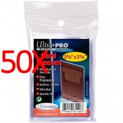 50x Ultra Pro Soft Card Sleeves, 100ct