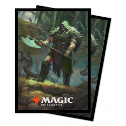 Ultra Pro - Throne of Eldraine 100 Sleeves - Garruk, Cursed Huntsman