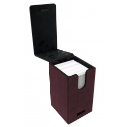 Ultra Pro - Suede Alcove Tower Deck Box - Ruby