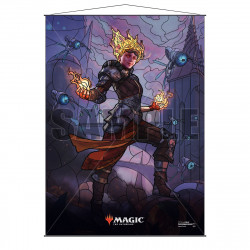 Ultra Pro - Stained Glass Planeswalkers Wall Scroll - Chandra