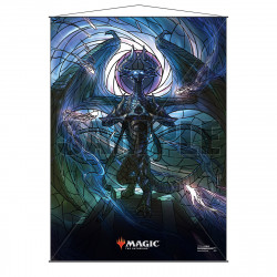 Ultra Pro - Stained Glass Planeswalkers Wall Scroll - Nicol Bolas