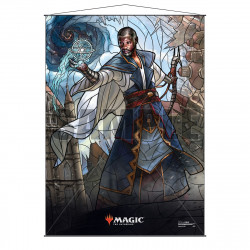 Ultra Pro - Stained Glass Planeswalkers Wall Scroll - Teferi