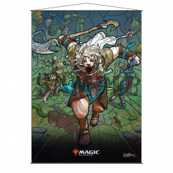 Ultra Pro - Stained Glass Planeswalkers Wall Scroll - Ajani