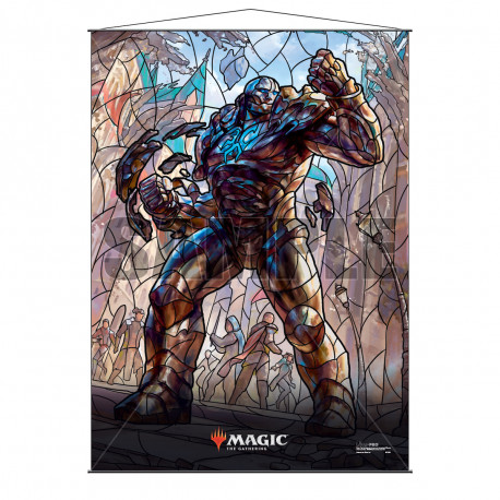 Ultra Pro - Stained Glass Planeswalkers Wall Scroll - Scroll Karn