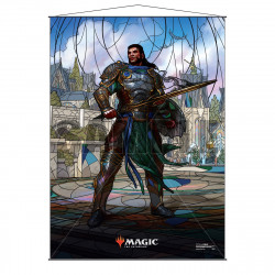 Ultra Pro - Stained Glass Planeswalkers Wall Scroll - Gideon