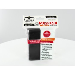 Ultimate Guard - 80 Supreme Sleeves Matte Standard - Noir