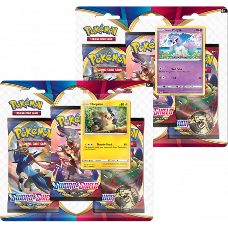 Pokemon - SWSH1 Sword & Shield - 3-Pack Blister Bundle (Morpeko + Ponyta)
