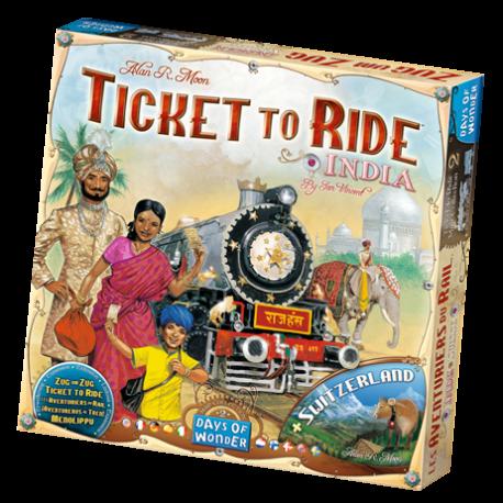Ticket to Ride - India & Switzerland - EN/DE/FR