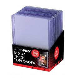 "Super Thick 100PT Toploader 3"" x 4"", 25pc"