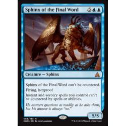 Sphinx du dernier mot