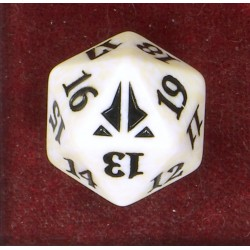 D20 Spindown Die - Oath of the Gatewatch - White