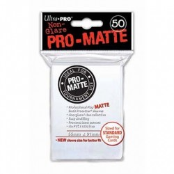 Ultra Pro - Pro-Matte Standard Deck Protectors 50ct Sleeves - White