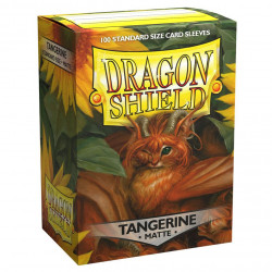 Dragon Shield - Matte 100 Sleeves - Tangerine 'Sol'