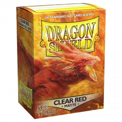 Dragon Shield - Matte 100 Sleeves - Clear Red 'Ignicip'