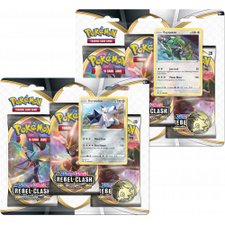Pokemon - SWSH2 Clash der Rebellen - 3-Pack Blister Bundle (Morpeko + Ponyta)