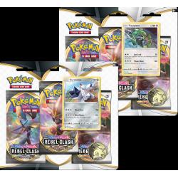 Pokemon - SWSH2 Fragore Ribelle - 3-Pack Blister Bundle (Morpeko + Ponyta)
