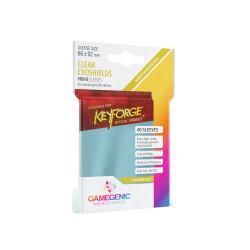 Gamegenic - Keyforge 40 Exoshields Sleeves - Clear
