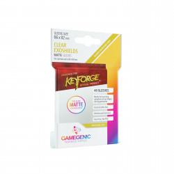 Gamegenic - Keyforge 40 Matte Exoshields Sleeves - Clear