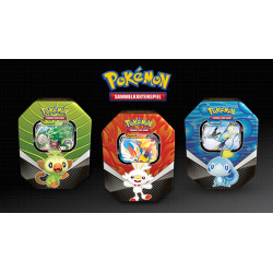 Pokemon - Galar Partners Tin - Set (Rillaboom V + Cinderace V + Inteleon V) - SLIGHTLY DAMAGED