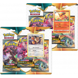 Pokemon - SWSH3 Flammende Finsternis - 3-Pack Blister Bundle