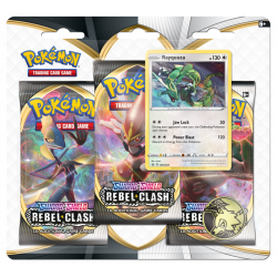 Pokemon - SWSH2 Clash der Rebellen - 3-Pack Blister - Rayquaza