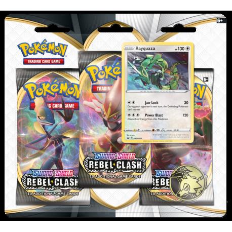 Pokemon - SWSH2 Rebel Clash - 3-Pack Blister - Rayquaza