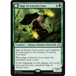 Sage of Ancient Lore / Werewolf of Ancient Hunger