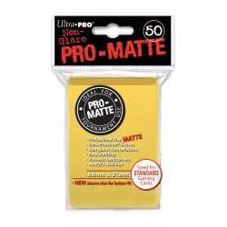 Ultra Pro - Pro-Matte Standard Deck Protectors 50ct Sleeves - Yellow