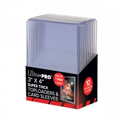 Ultra Pro - Super Thick Toploader 130PT with Thick Card Sleeves (10x)