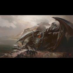 Kraken Wargames - Playmat - Wolf Dragon