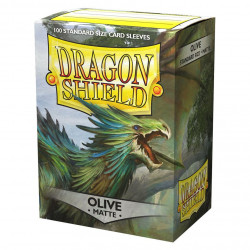 Dragon Shield - Matte 100 Sleeves - Olive