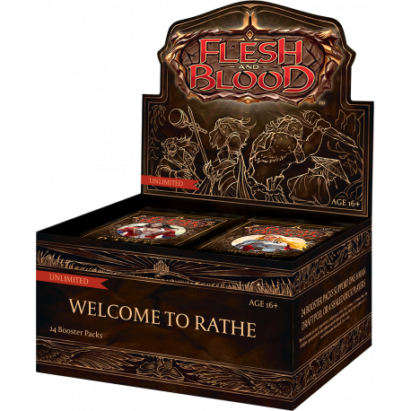 Flesh and Blood TCG - Welcome to Rathe - Unlimited Booster Display